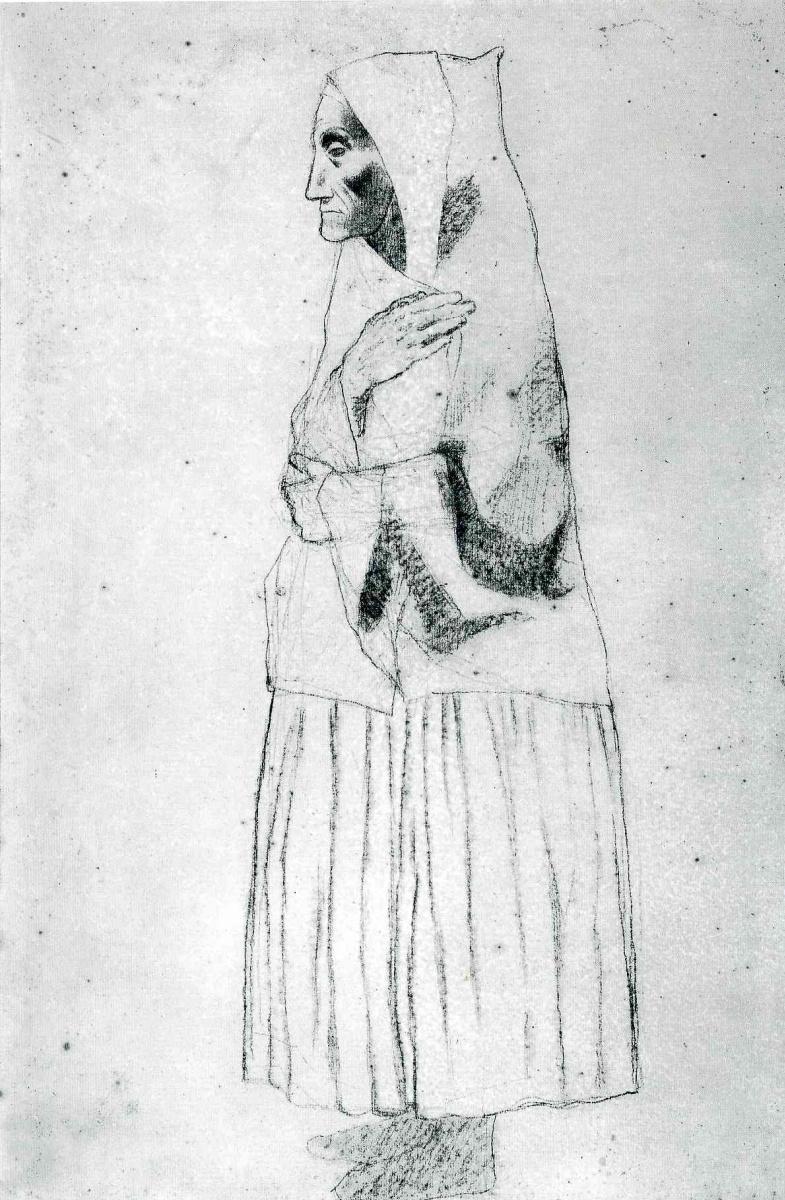Пабло Пикассо. Крестьянка с шалью