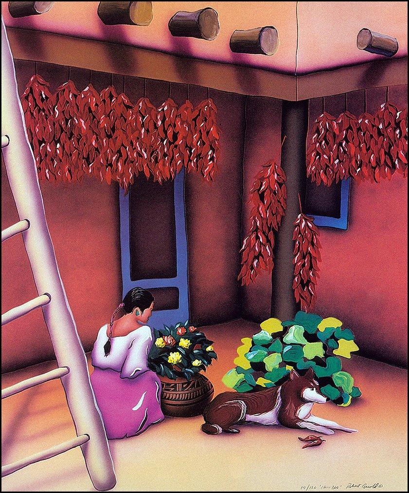 Роберт Арнольд. Девушка, цветы и собака