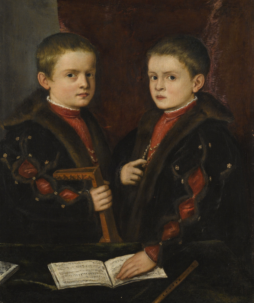 Titian Vecelli. Portrait of two boys from the Pesaro family