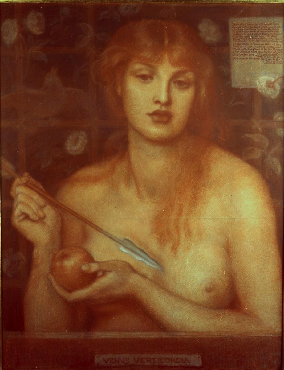 Данте Габриэль Россетти. Венера Вертикордия. Эскиз