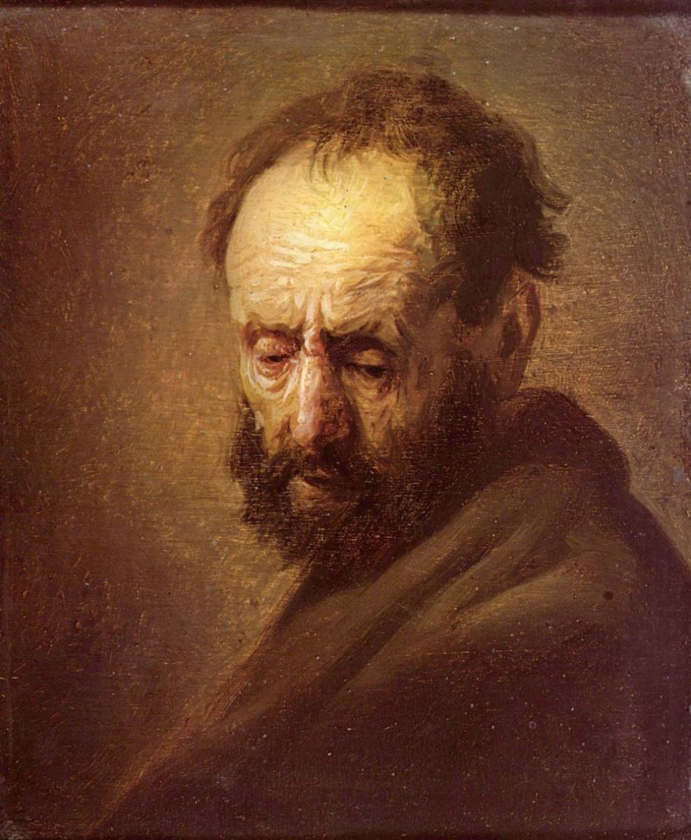 Рембрандт Ван Рейн. Мужской портрет