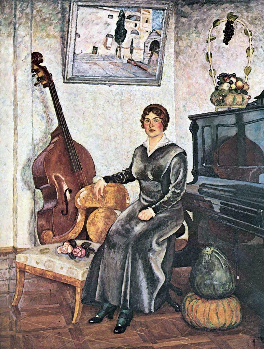 Илья Иванович Машков. Дама с контрабасом
