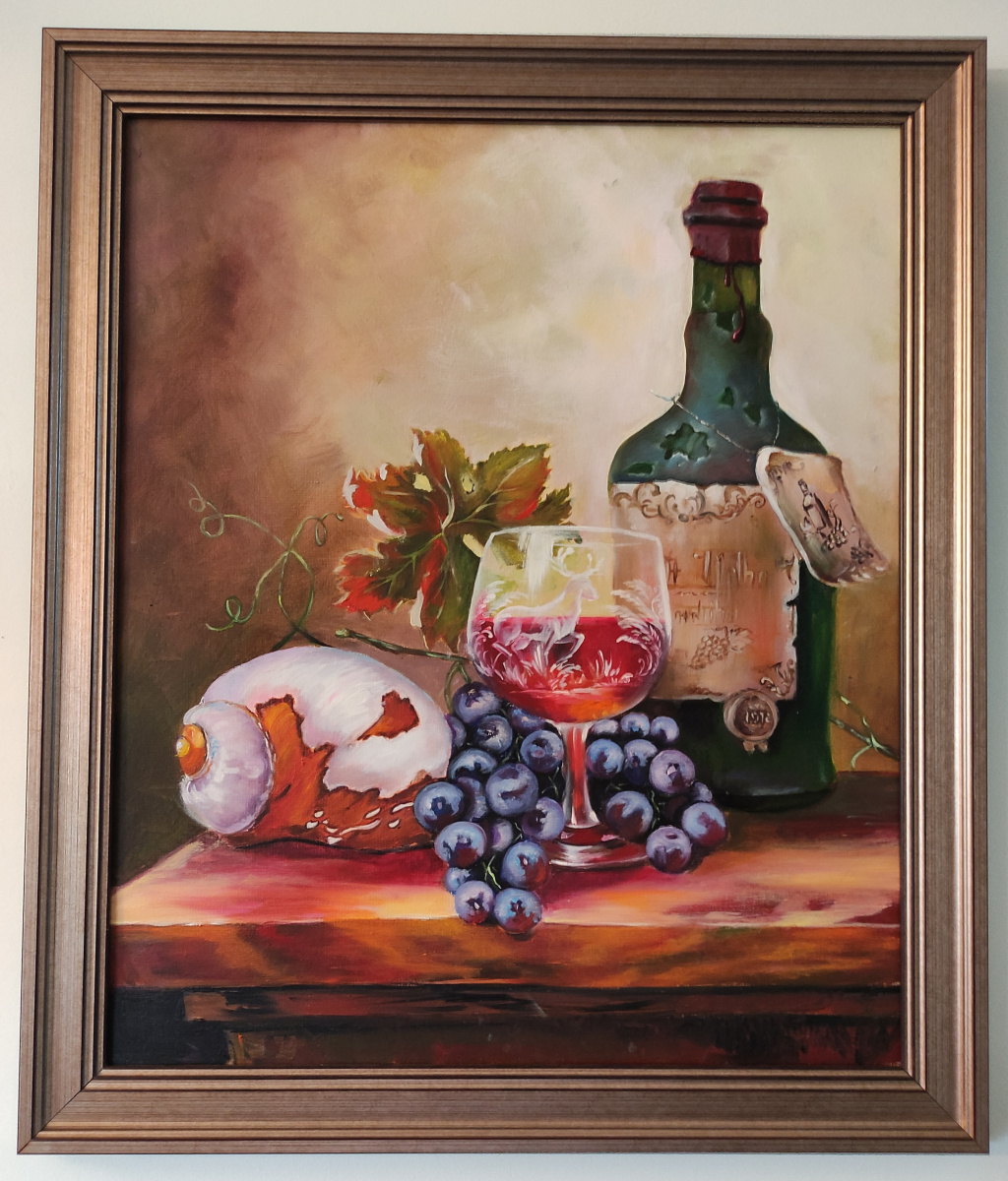 Unknown artist. Wine with grapes