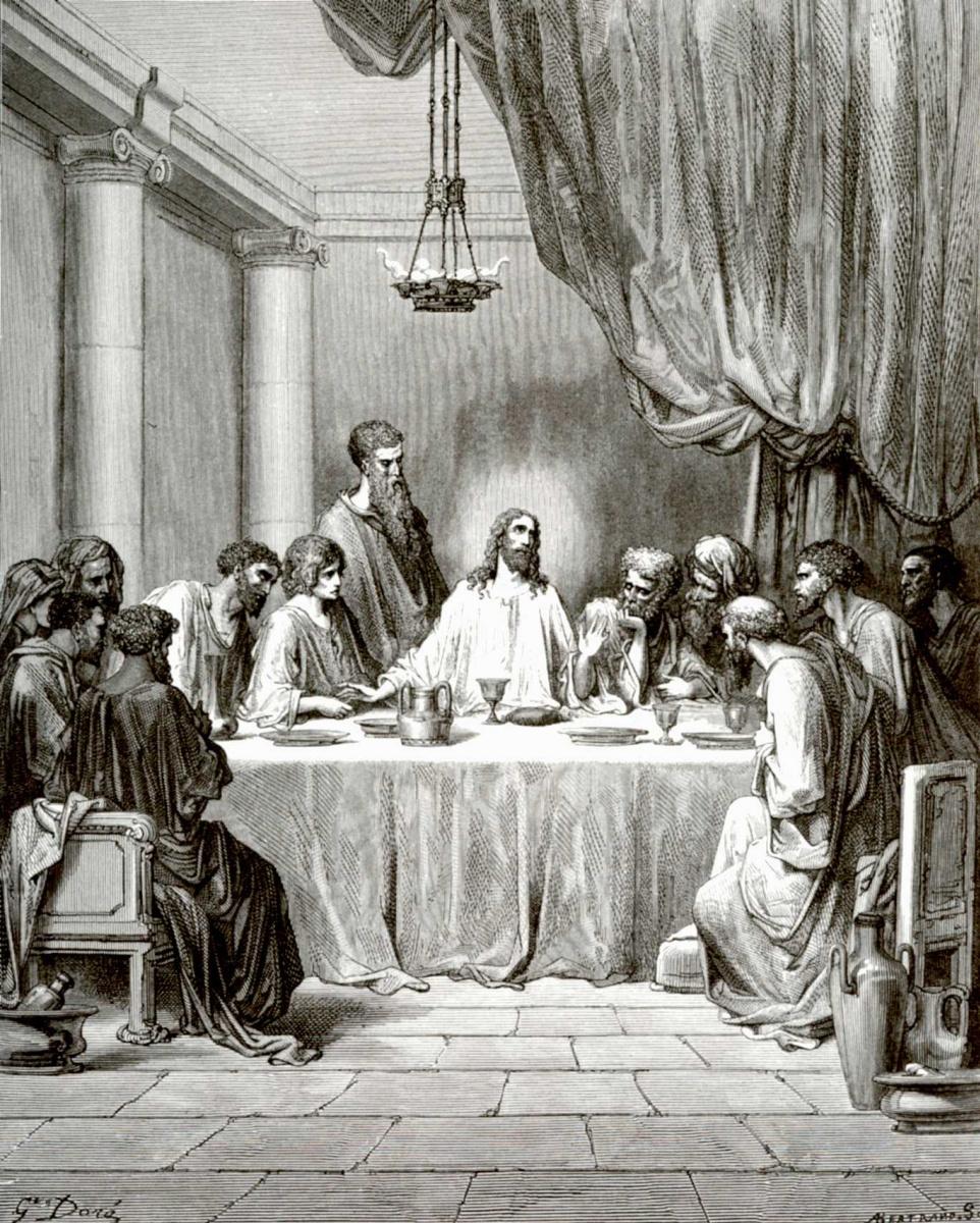 Поль Гюстав Доре. Иллюстрация к Библии: Тайная вечеря