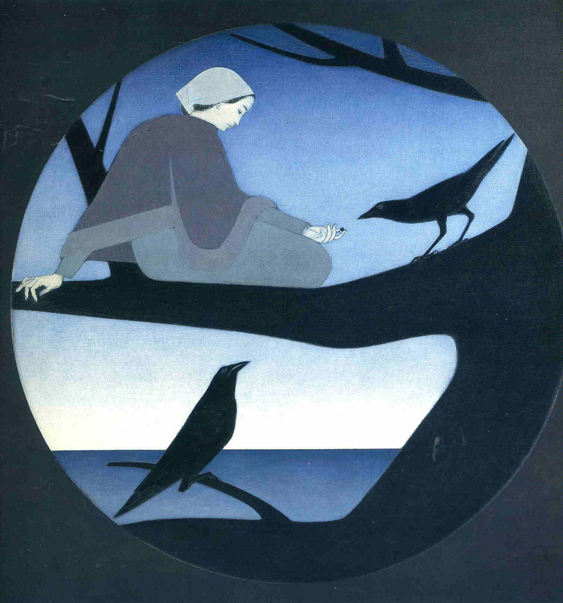 Will Barnet. Feeding crows