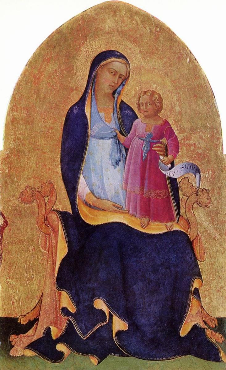 Лоренцо Монако. Мария с младенцем