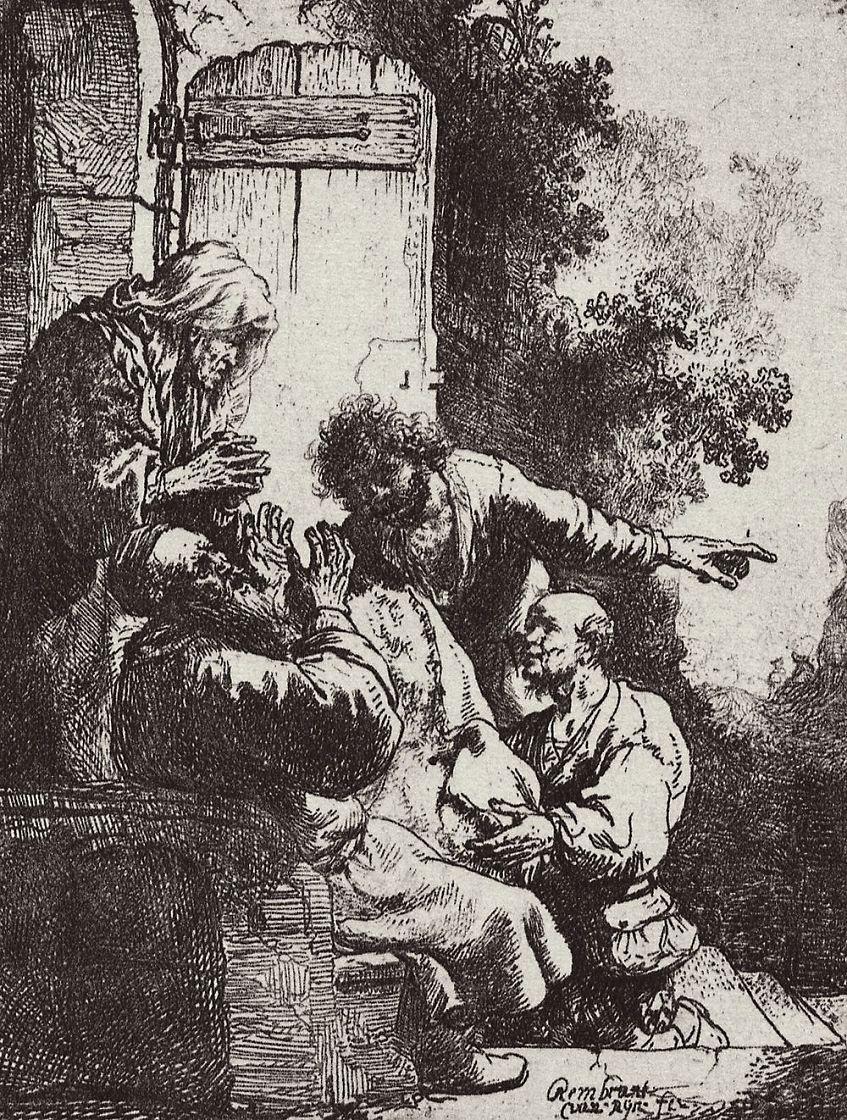 Рембрандт Харменс ван Рейн. Иаков, оплакивающий смерть Иосифа