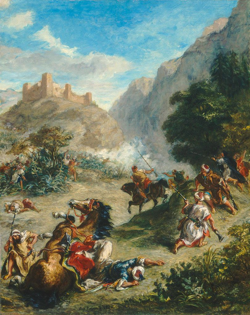 Eugene Delacroix. The Arabs skirmishing in the mountains