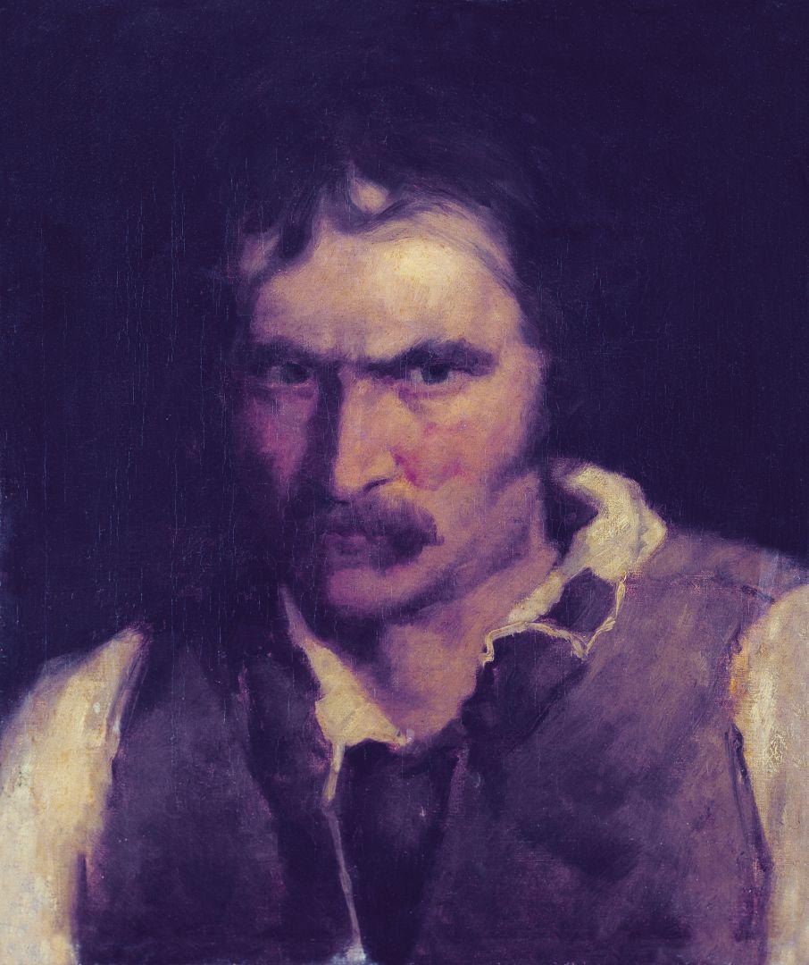 """Михай Либ Мункачи. Портрет мужчины. Эскиз для картины """"Осужденный на смерть"""""""
