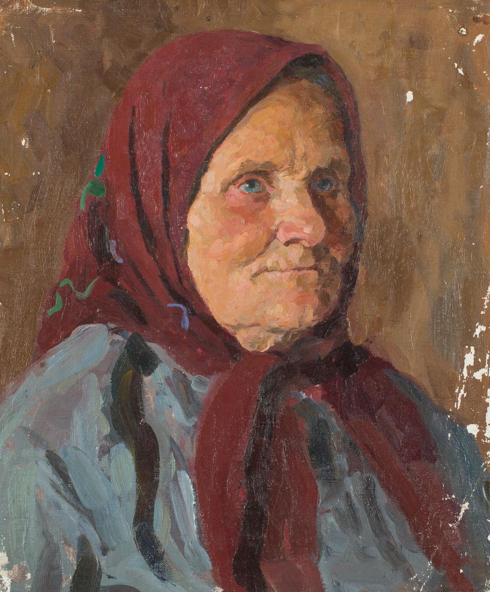 Mark Grigorievich Weinstein. Portrait of a peasant woman