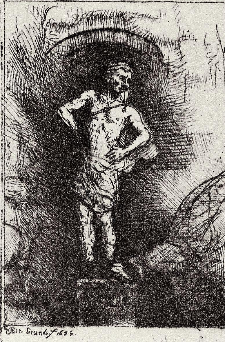 Рембрандт Харменс ван Рейн. Иллюстрация к Славному камню Менассе бен Израэля, Видение статуи Навуходоносора
