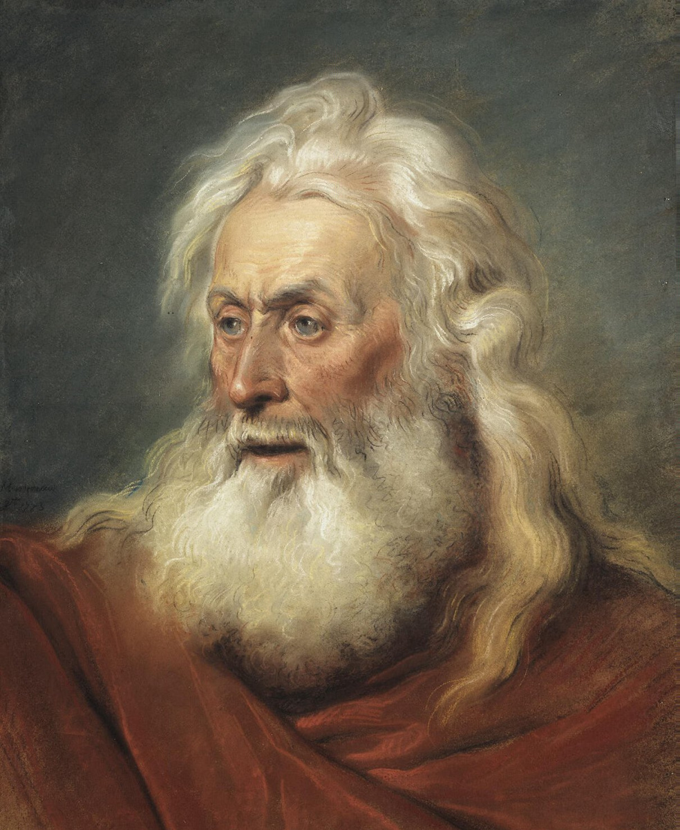 Жан-Мишель Моро  Младший. Голова апостола