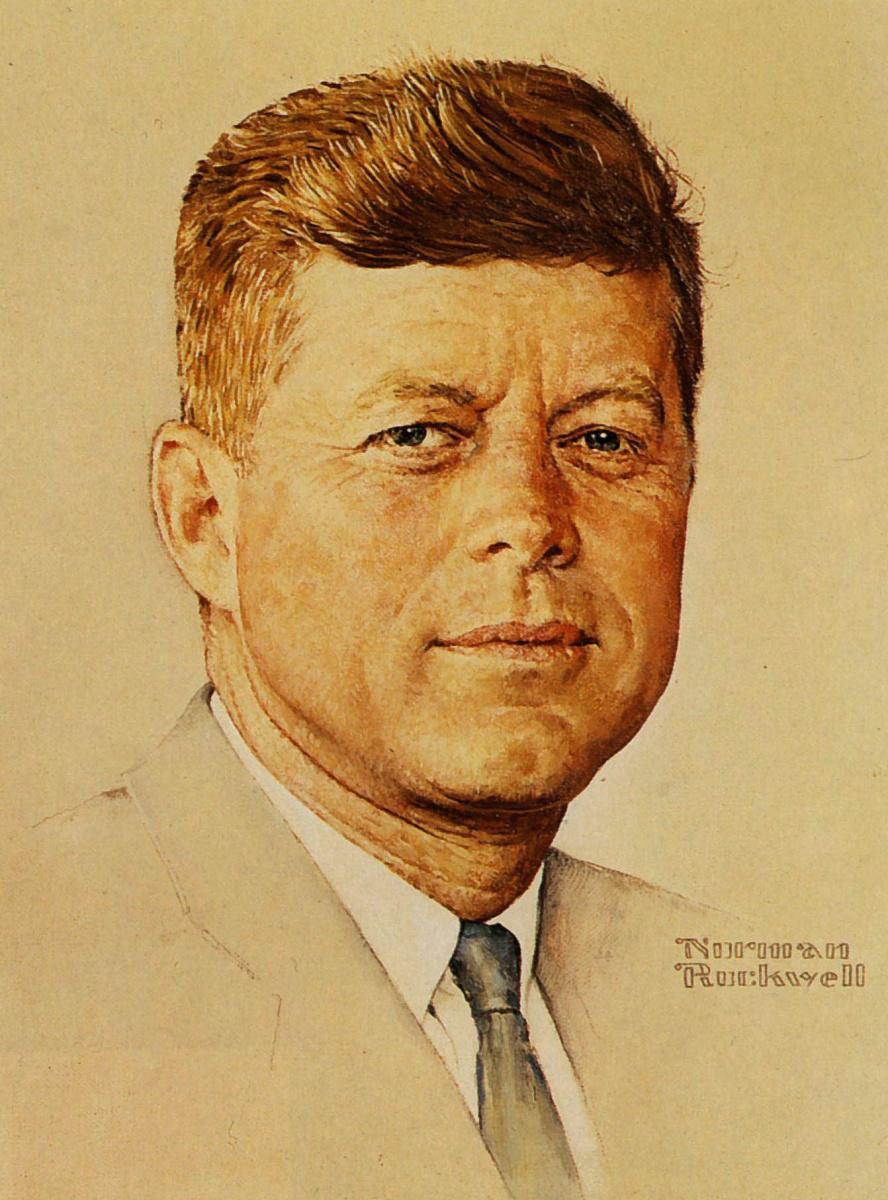Норман Роквелл. Портрет Джона Кеннеди