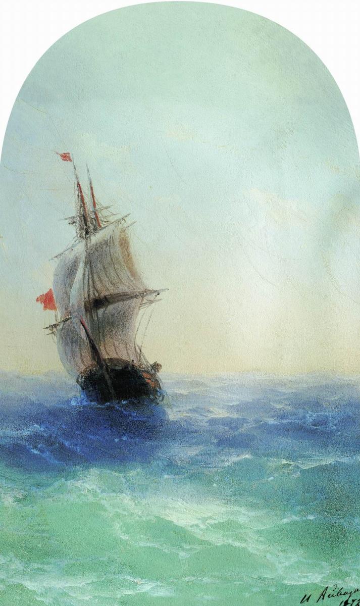 Иван Константинович Айвазовский. Бушующее море