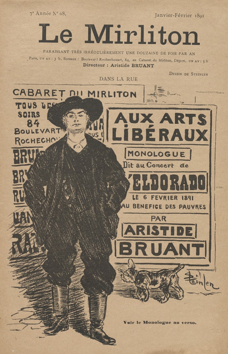 """Theophile-Alexander Steinlen. Illustration for the magazine """"Mirliton"""" No. 68, January-February 1891"""