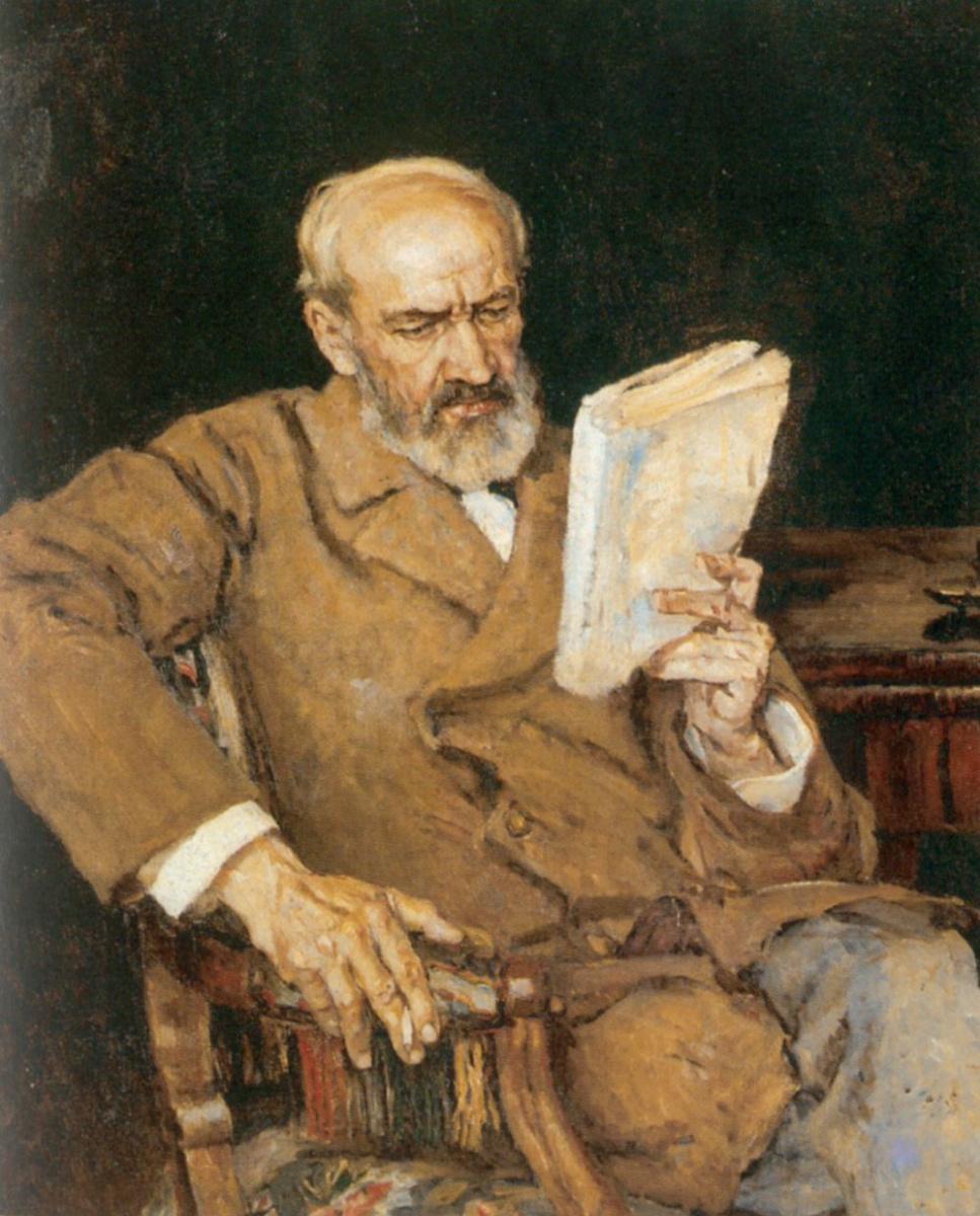 Василий Иванович Суриков. Портрет доктора А.Д. Езерского
