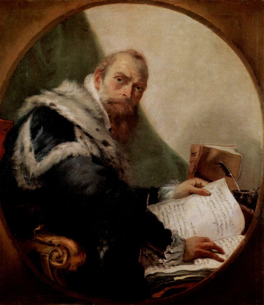 Giovanni Battista Tiepolo. Portrait of Antonio Riccobono