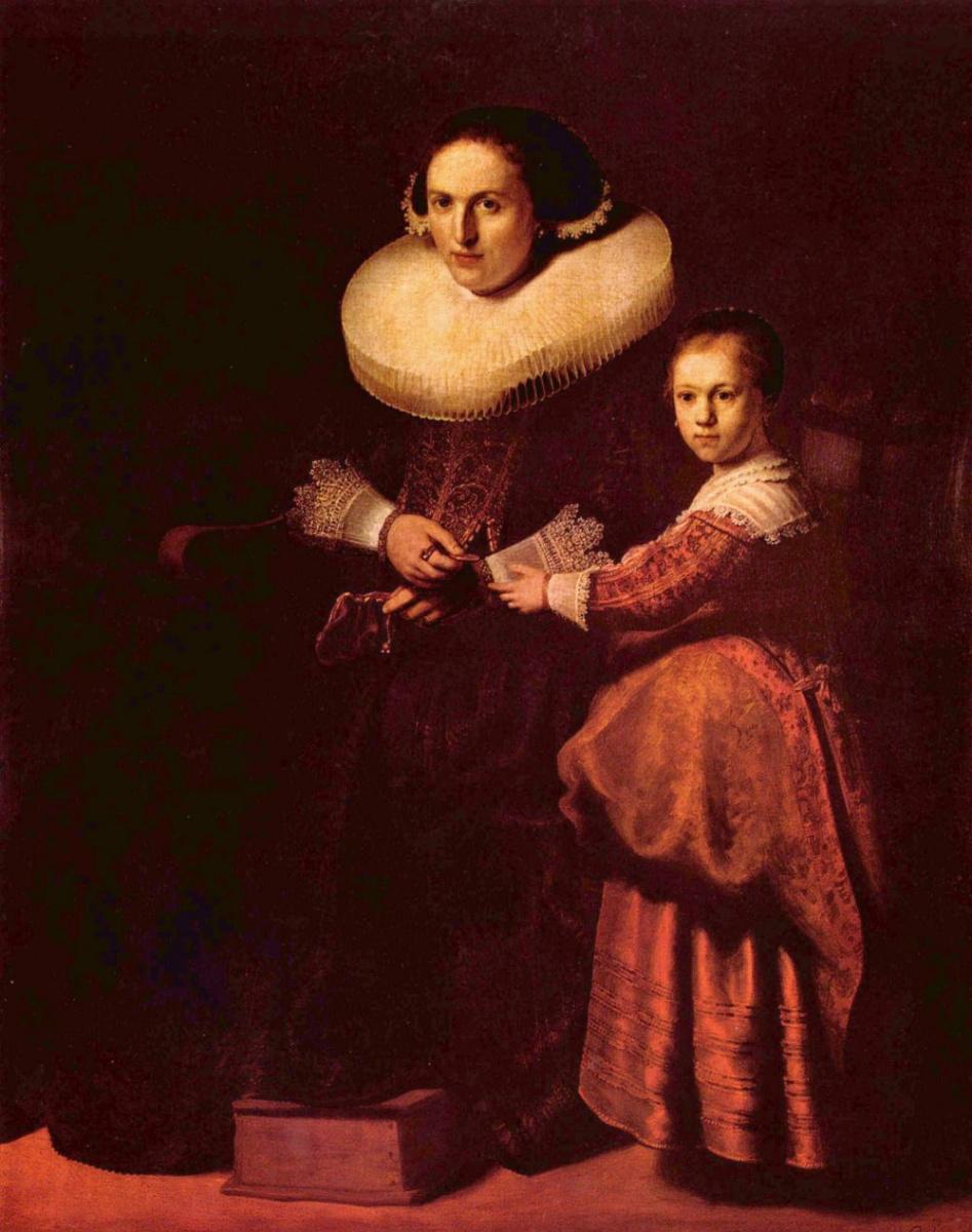 Рембрандт Харменс ван Рейн. Сусанна Пелликорн с дочерью Евой