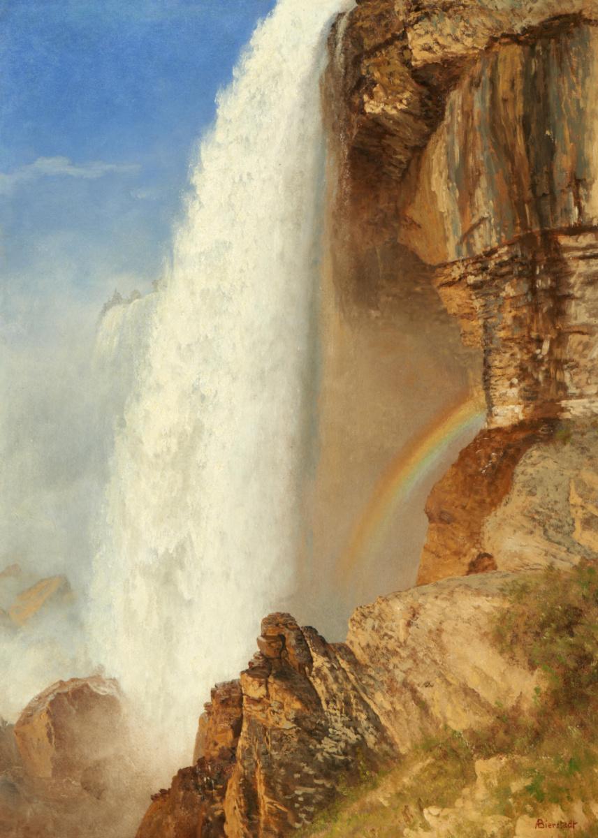 Альберт Бирштадт. Ниагарский водопад и радуга