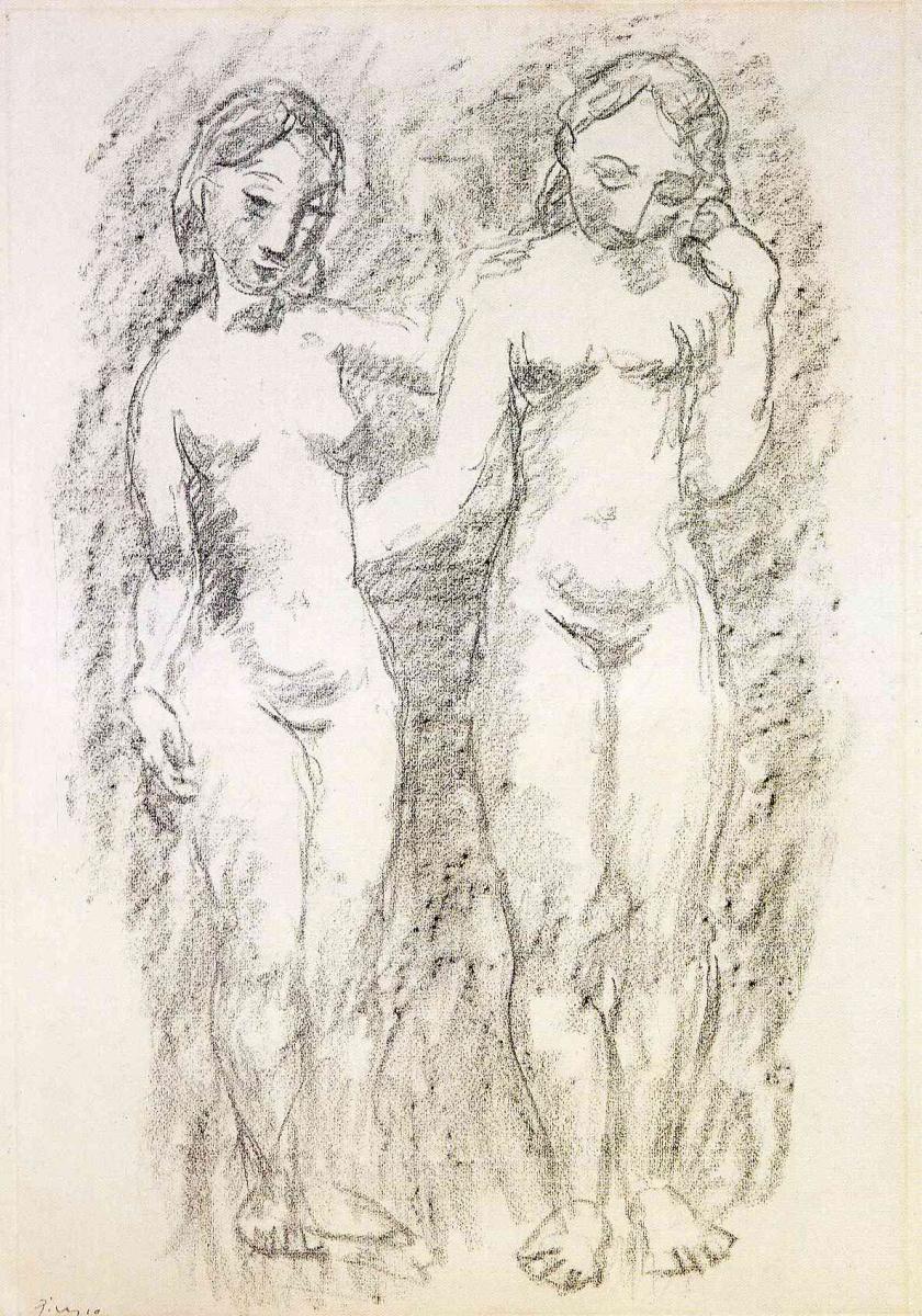 Пабло Пикассо. Две обнаженные девушки