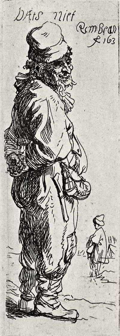 Рембрандт Харменс ван Рейн. Стоящий крестьянин