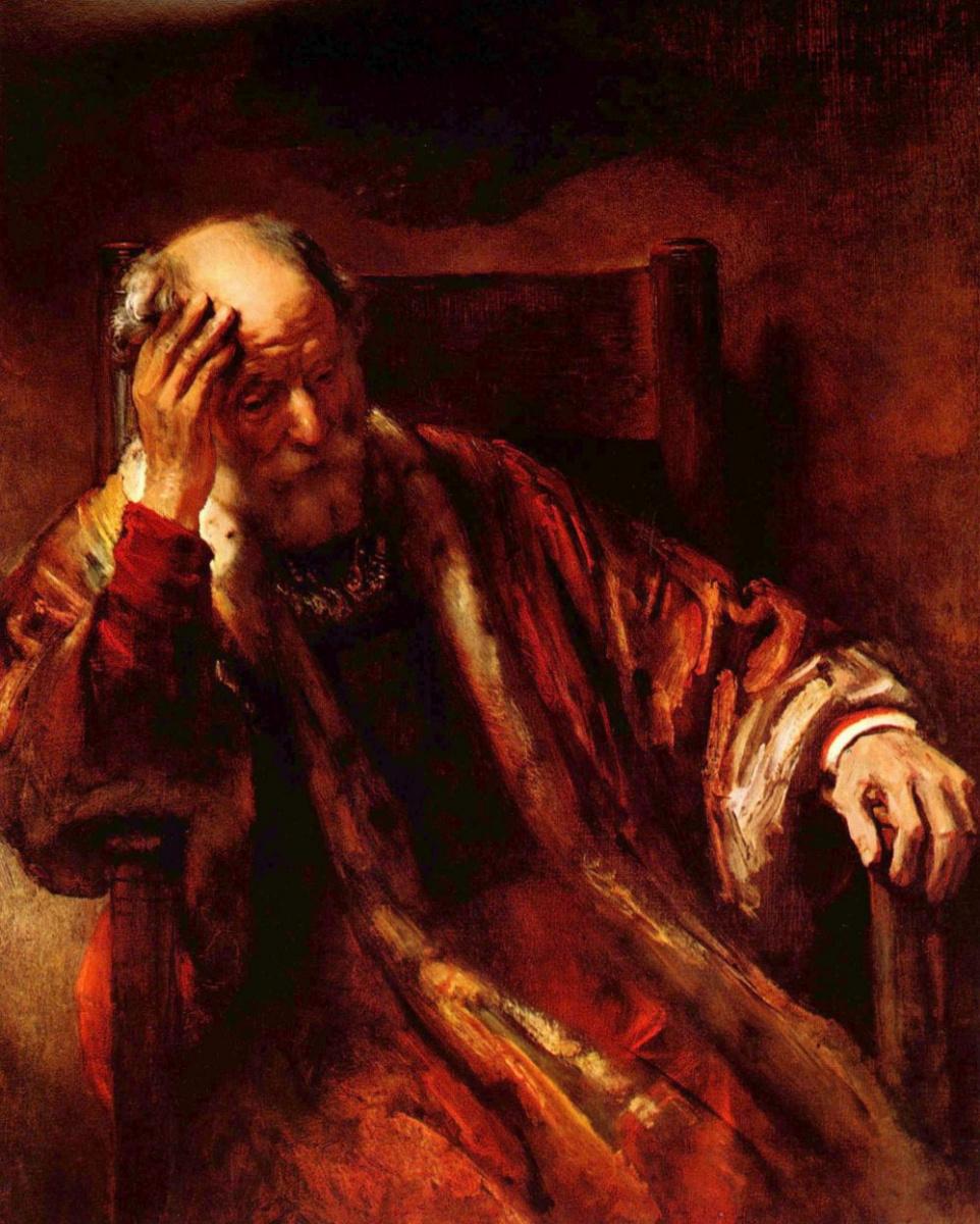 Рембрандт Харменс ван Рейн. Старик в кресле