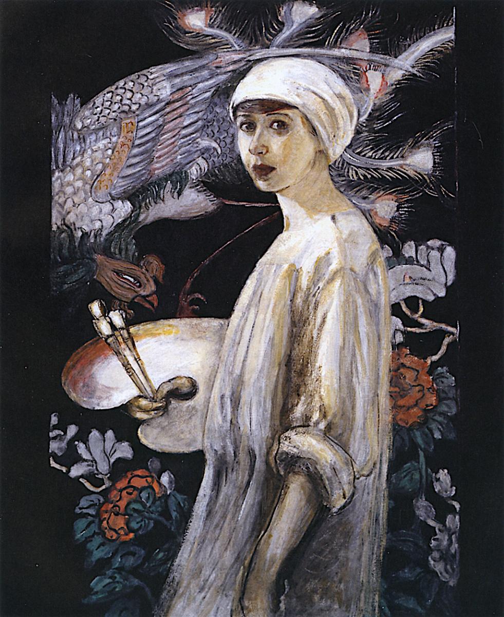 Флорина Штеттхаймер. Автопортрет с райскими птицами