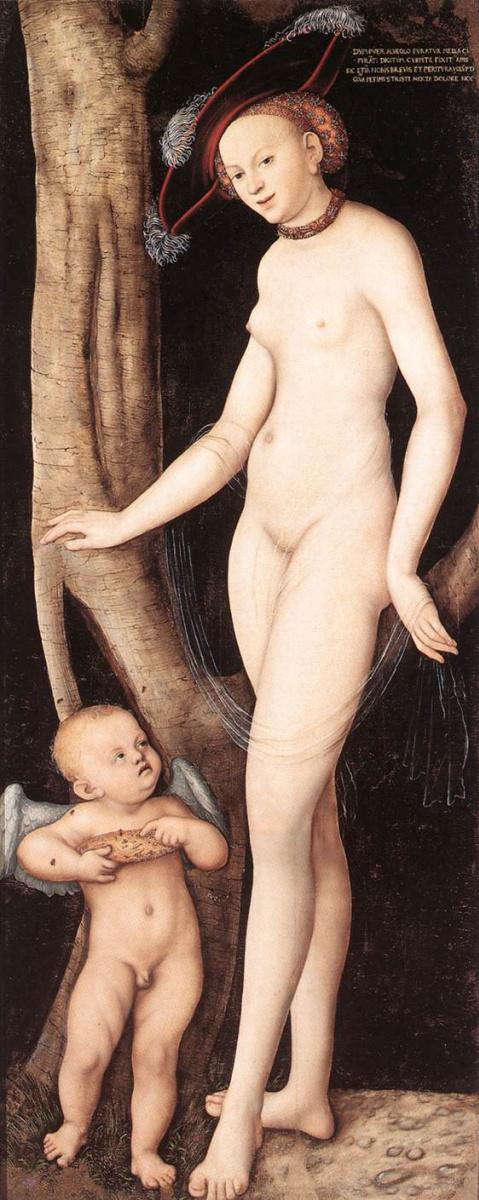 Лукас Кранах Старший. Венера и Амур с сотами