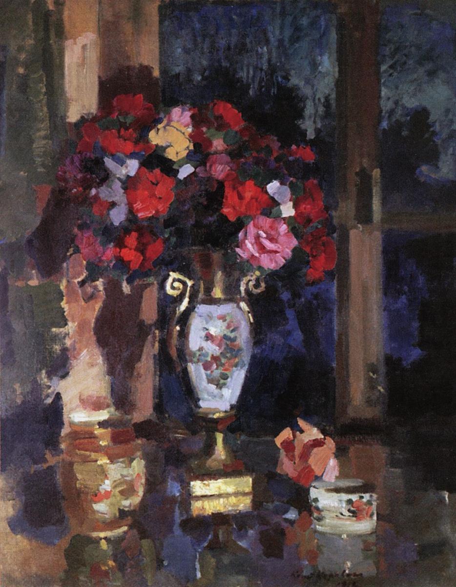Константин Алексеевич Коровин. Букет бумажных роз