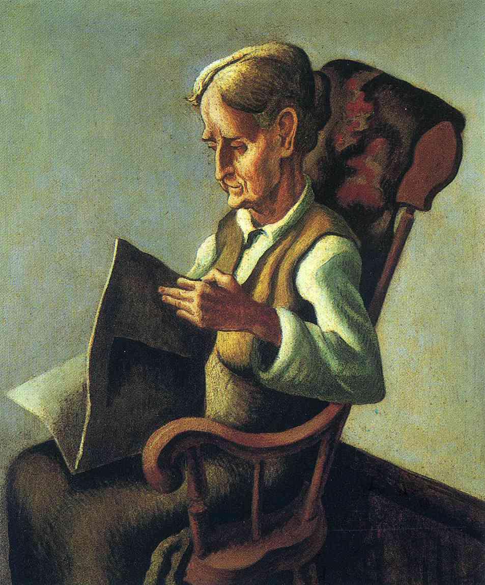 Томас Харт Бентон. Пожилая женщина читает