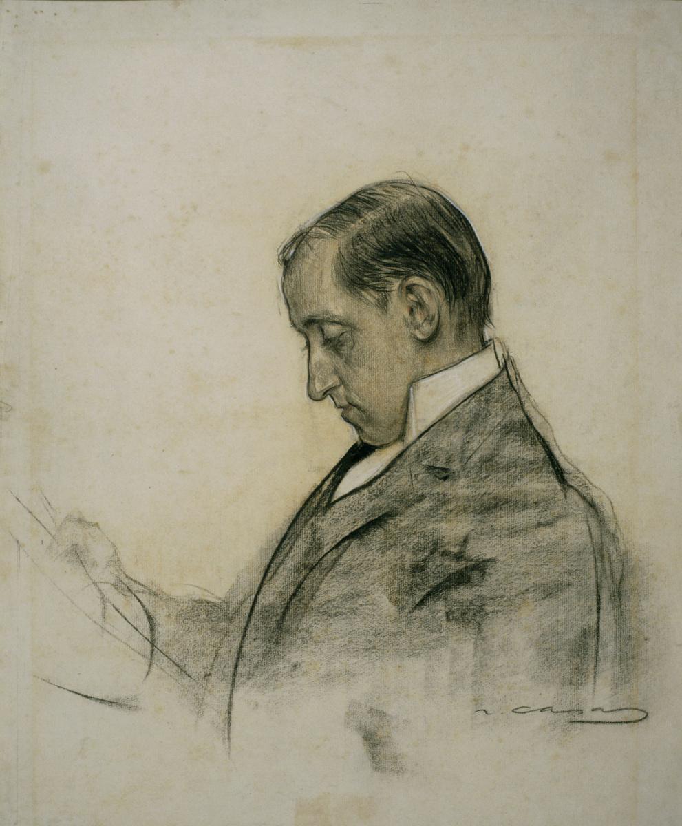 Ramon Casas i Carbó. Portrait of Mikel Utrillo