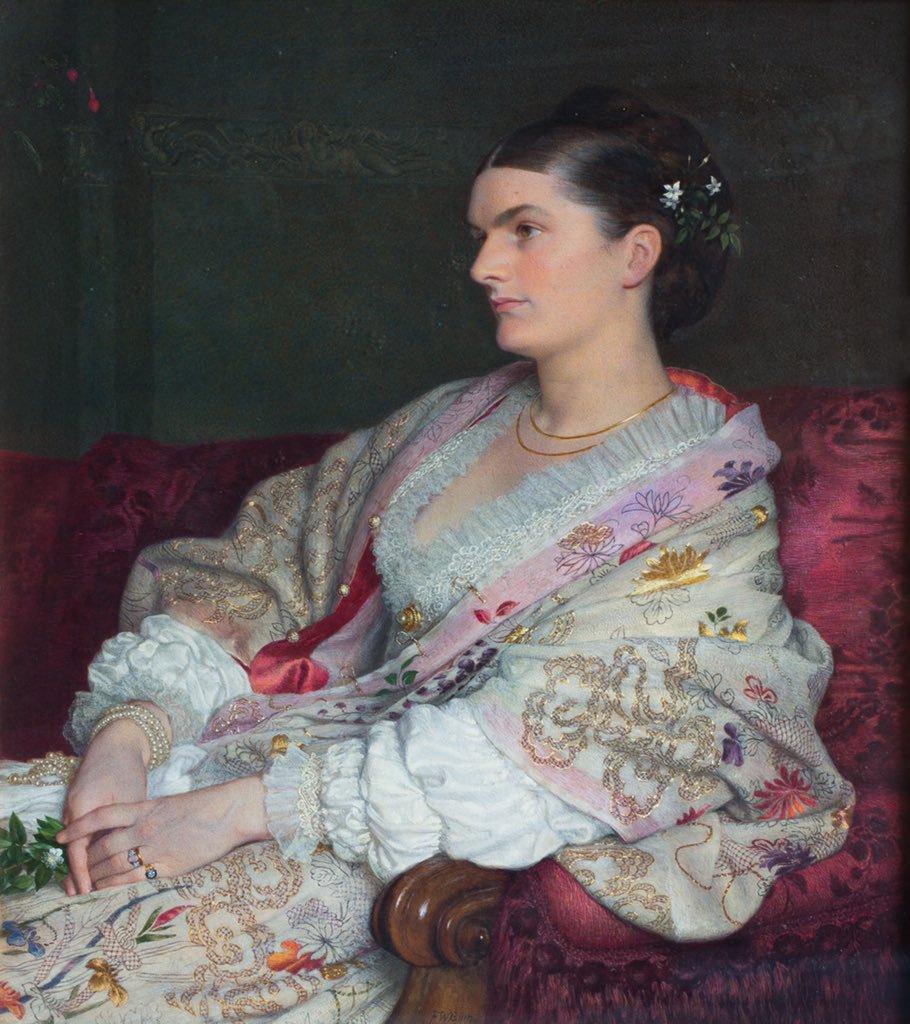 Frederick William Burton. Portrait of Mrs. George Smith, Nee Elizabeth Blackway