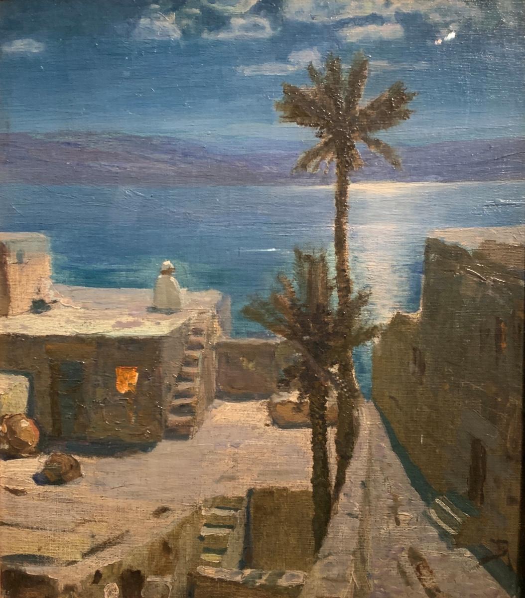 """Vasily Dmitrievich Polenov. Settled in Capernaum Seaside. Series """"From the Life of Christ"""""""