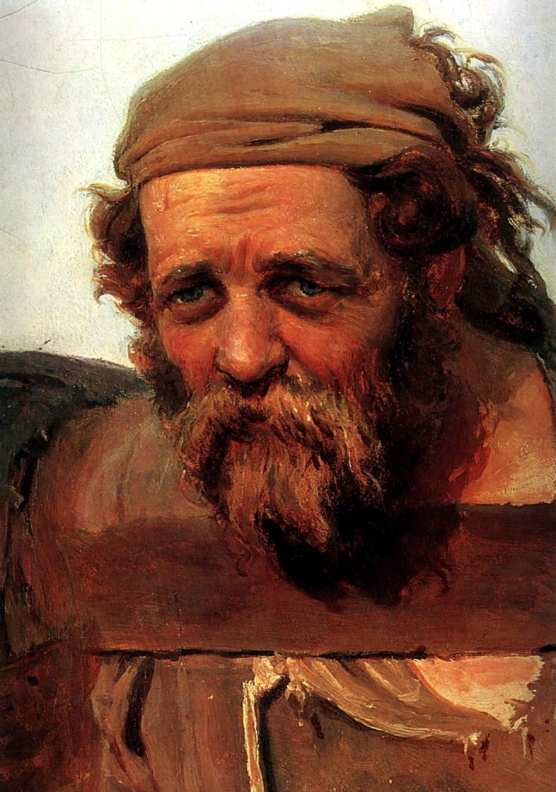 Ilya Efimovich Repin. Barge haulers on the Volga. Fragment