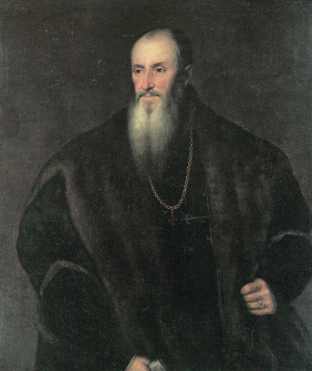 Titian Vecelli. Portrait of Nicholas Perrenot von Granville