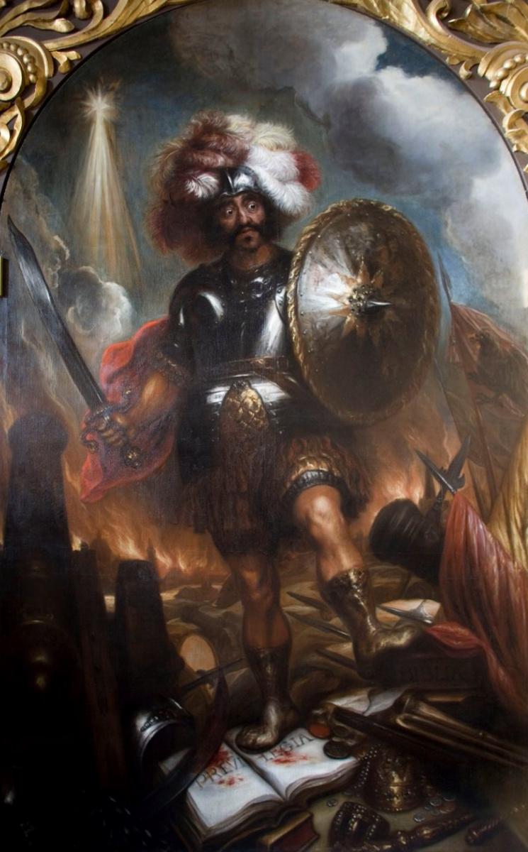 Ян Ливенс. Аллегория Войны. Марс, попирающий символы религии и права