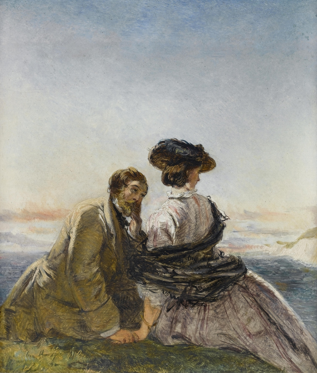 William Frayth Powell UK 1819-1909. Lovers.