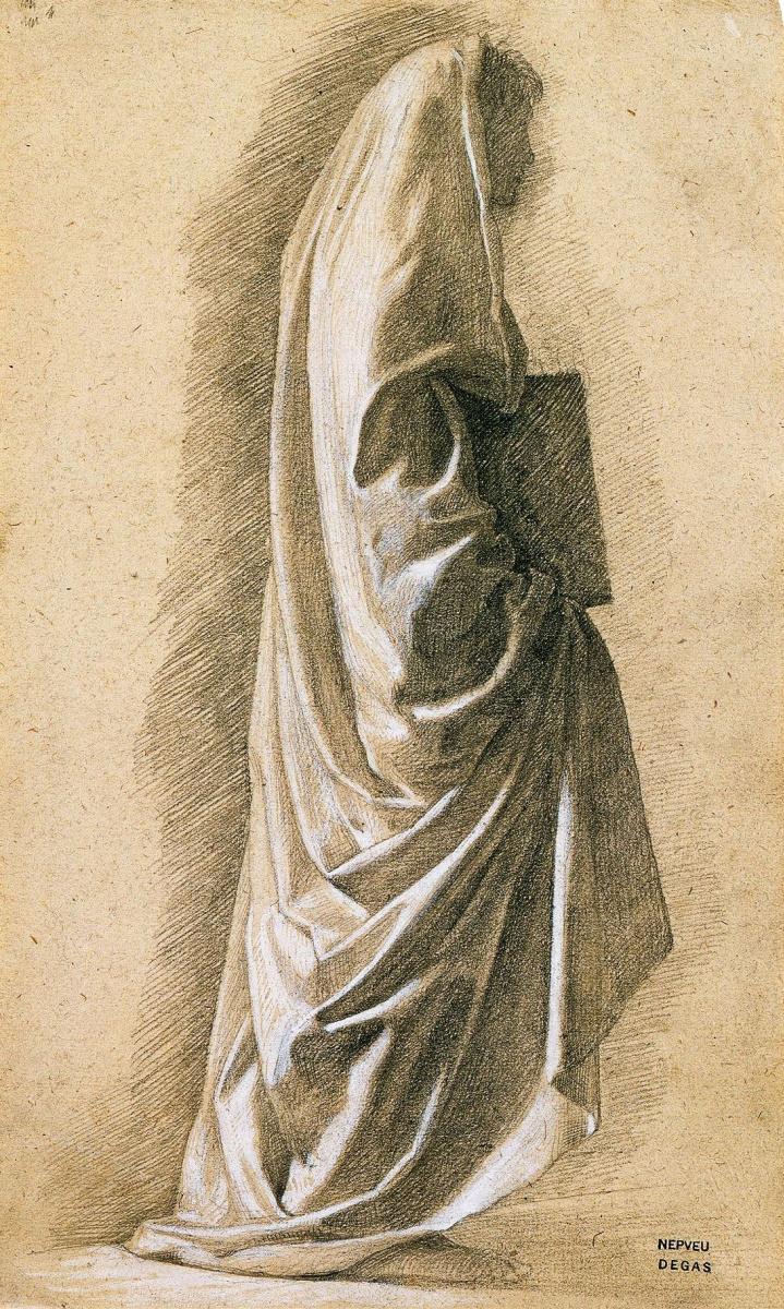 Эдгар Дега. Фигура в длинных одеждах