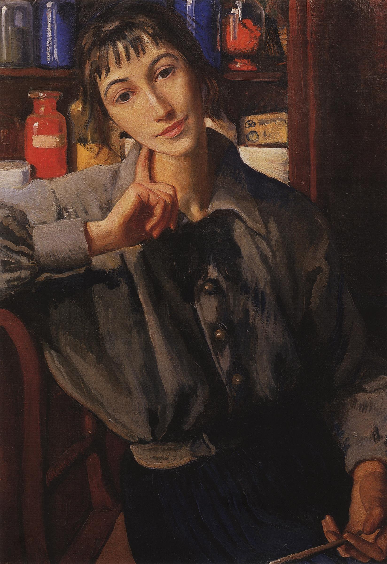 Зинаида Евгеньевна Серебрякова. Автопортрет с кистью