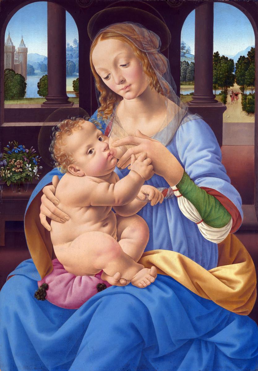 Лоренцо ди Креди. Дева с младенцем