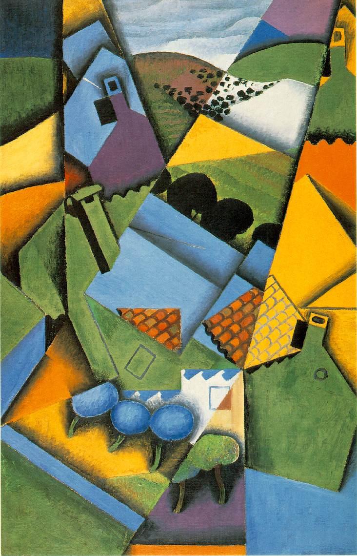 Juan Gris. Landscape with a house in Ceret