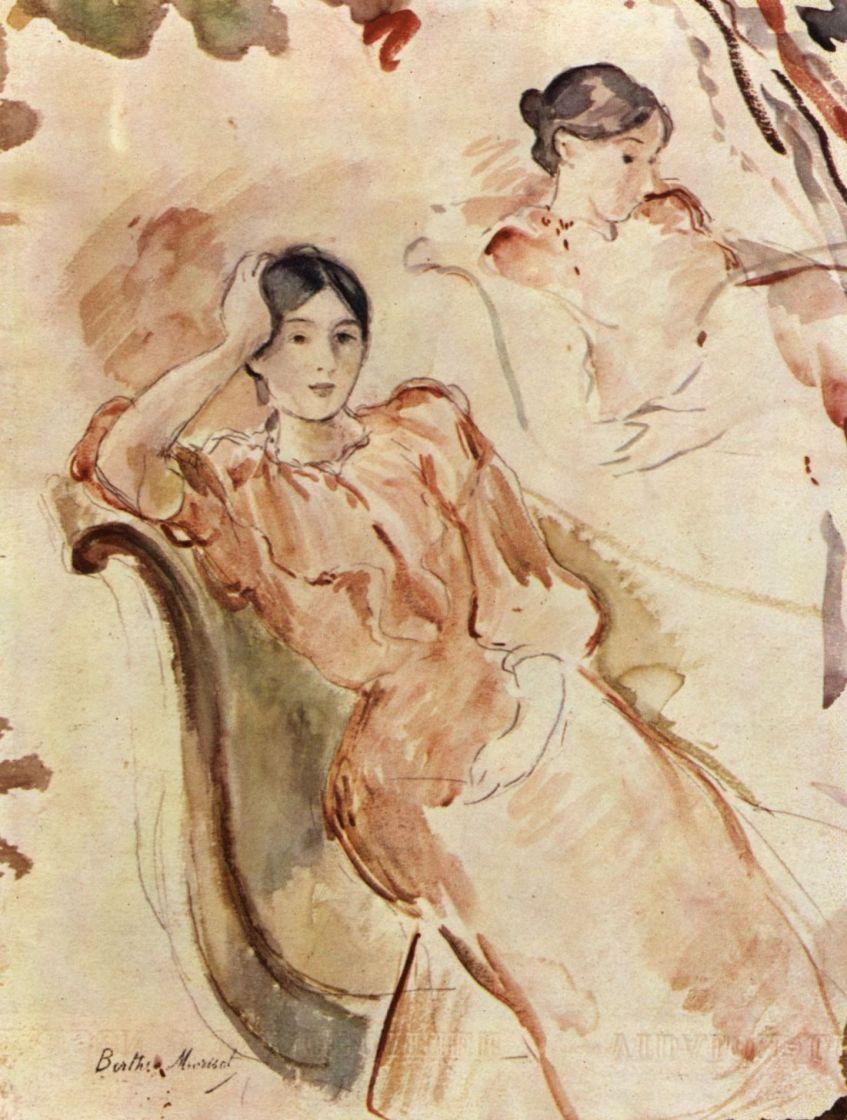 Берта Моризо. Портретные этюды Жанны Понтийон