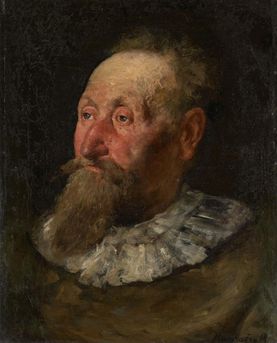Михай Либ Мункачи. Портрет мужчины с бородой