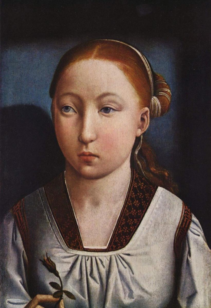 Хуан де Фландес. Портрет девушки