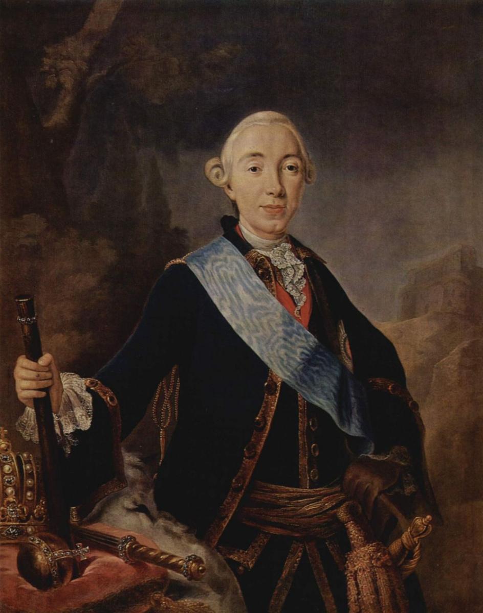 Лукас Конрад Пфандцельт. Портрет русского императора Петра III