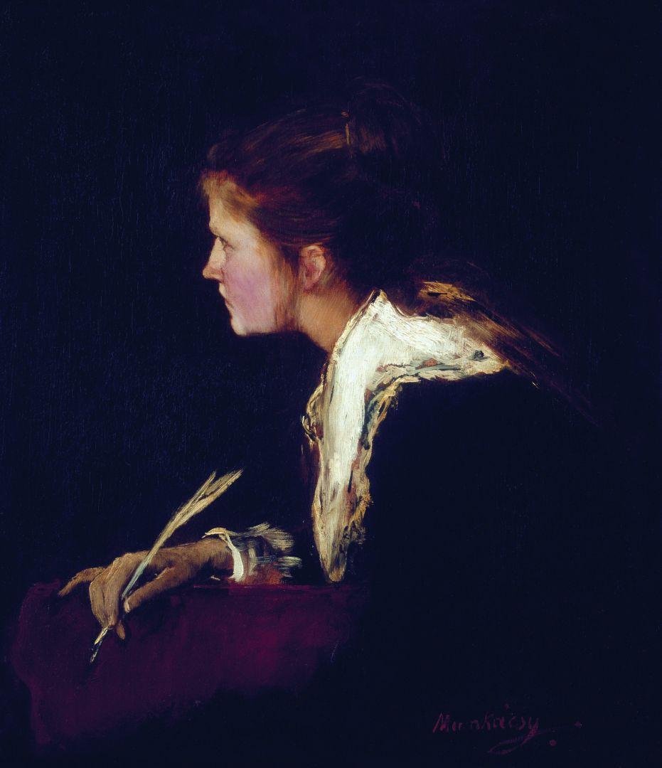 """Михай Либ Мункачи. Ева. Портрет девушки для картины """"Мильтон, диктующий дочерям поэму """"Потерянный рай"""""""
