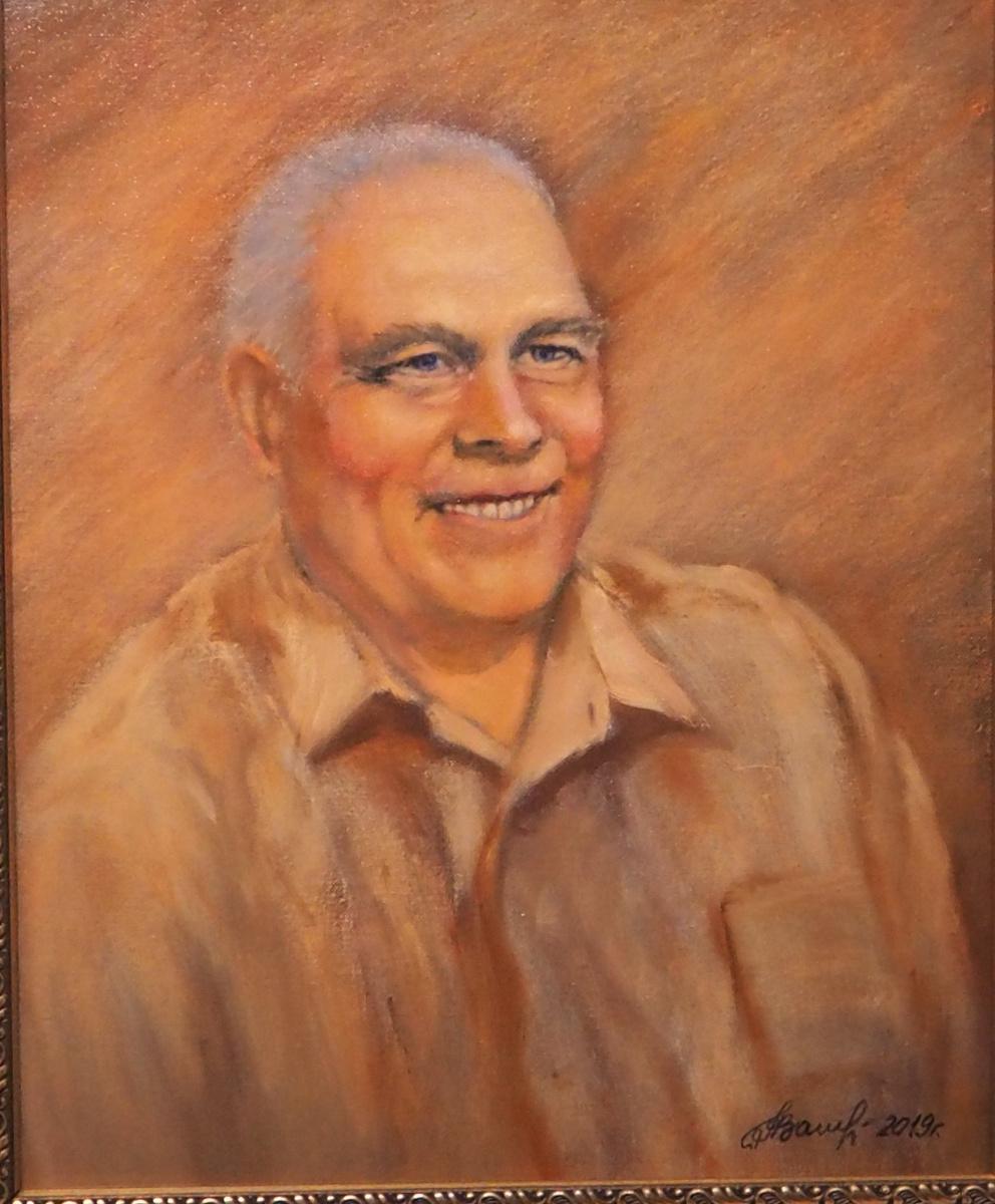 Alexander Fedorovich Vazhnev. PORTRAIT A.V. KHRULYOVA. 50 x 40. Oil on canvas. 2019 year