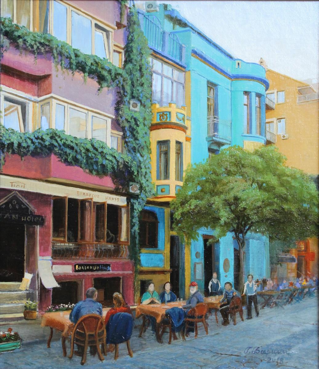 Gennady Shotovich Bartsits. Street cafe in Istanbul