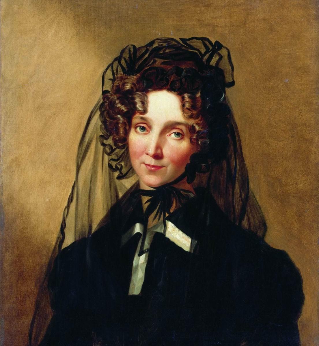 Petr Vasilyevich Basin. Portrait of Empress Elizabeth Alekseevny.