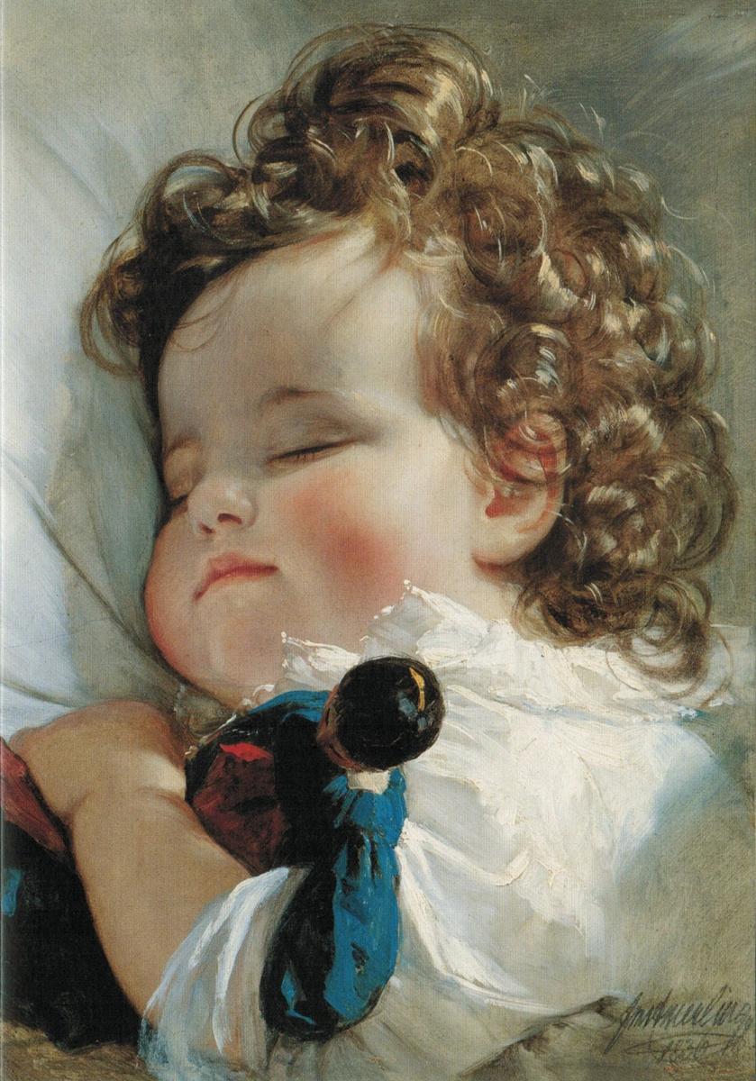 Фридрих фон Амерлинг. Принцесса Мари Франциска фон Лихтенштейн в возрасте двух лет. 1836